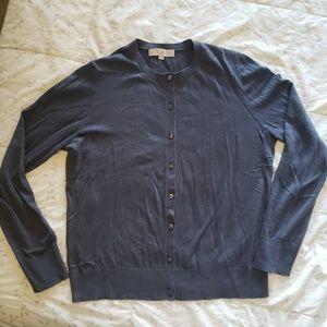 Classic Blue Grey Cotton Cardigan
